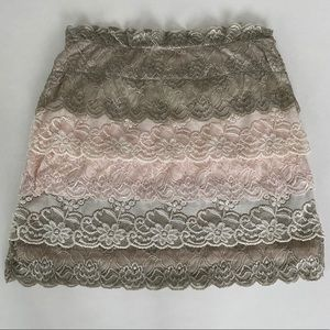 UO Urban Outfitters Lace Bodycon Mini Skirt